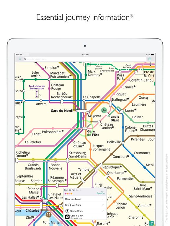 Paris Metro Map and Route Planner screenshot