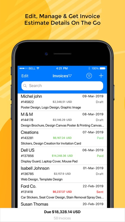 Moon Invoice – Easy Invoicing screenshot-4