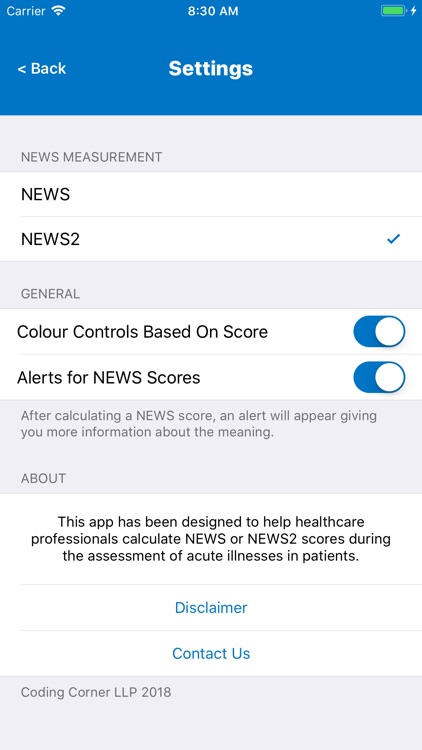 NEWS2 Calculator