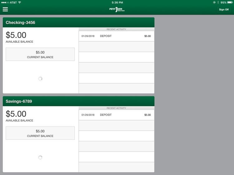 Petit Jean State Bank Mobile screenshot-3