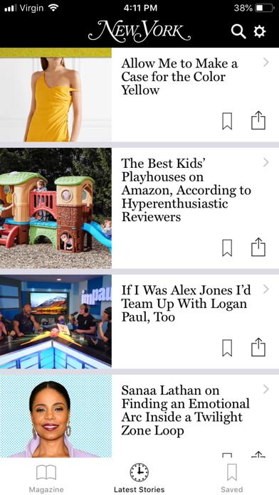 New York Magazine review screenshots