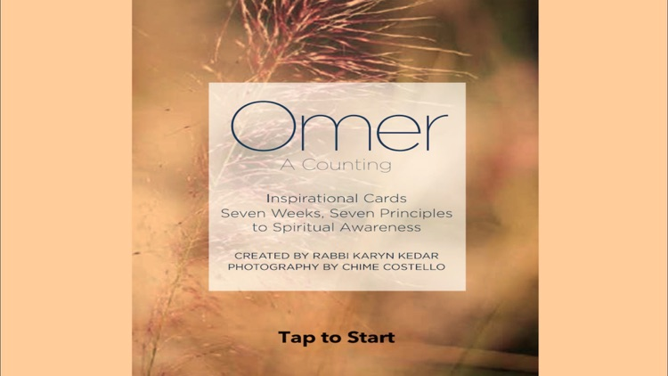 Omer: A Counting