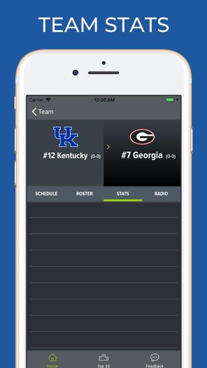 Georgia Football Schedules screenshot-3