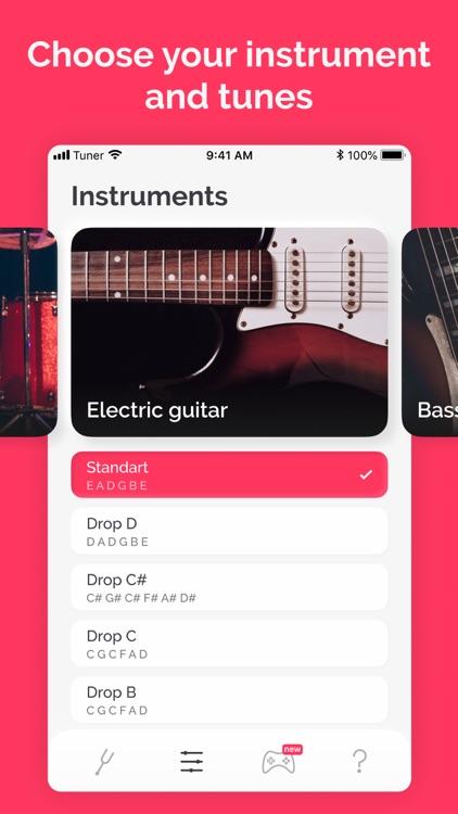 Tuner: guitar, ukulele, bass