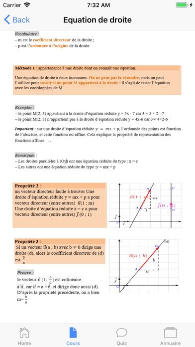 Maths Seconde screenshot 2