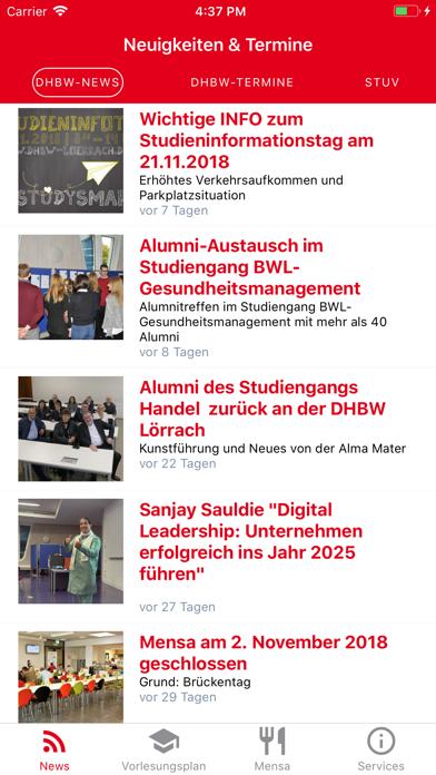 Screen Shot DHBW Lörrach Campus App 0