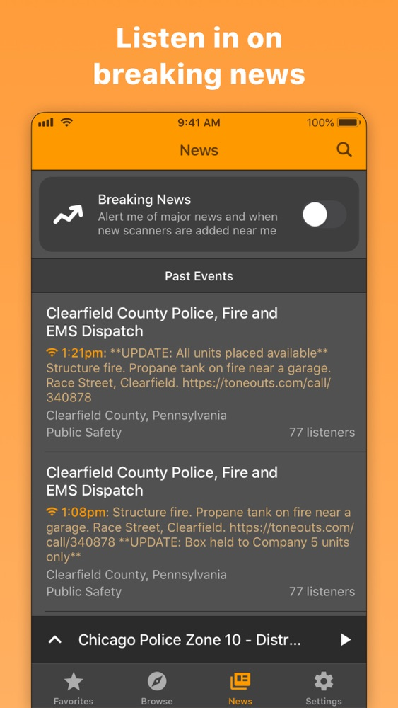 Scanner Near Me >> Scanner Radio Police Fire App For Iphone Free Download