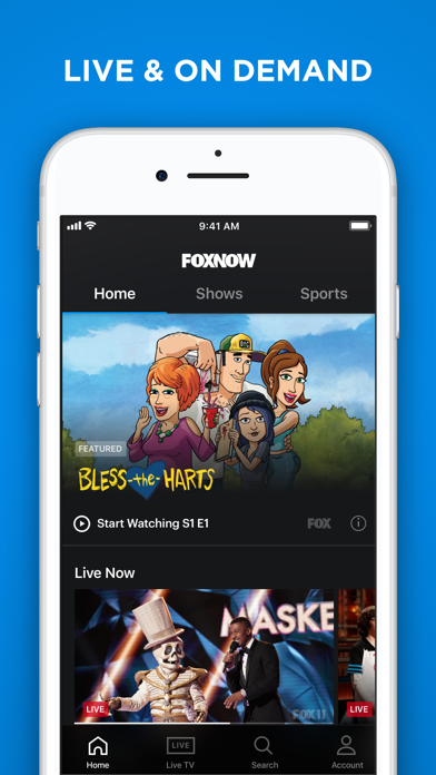 download FOX NOW: Watch TV & Sports apps 4