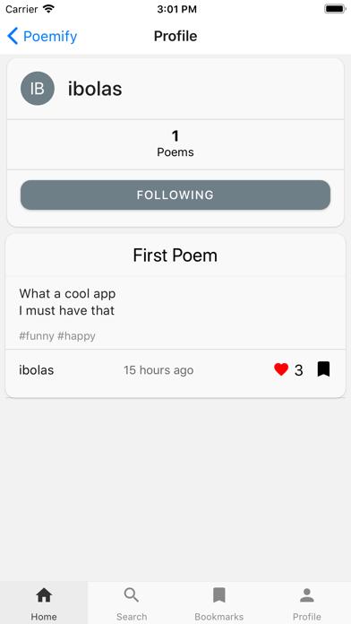 Poemify - Social Poetry screenshot