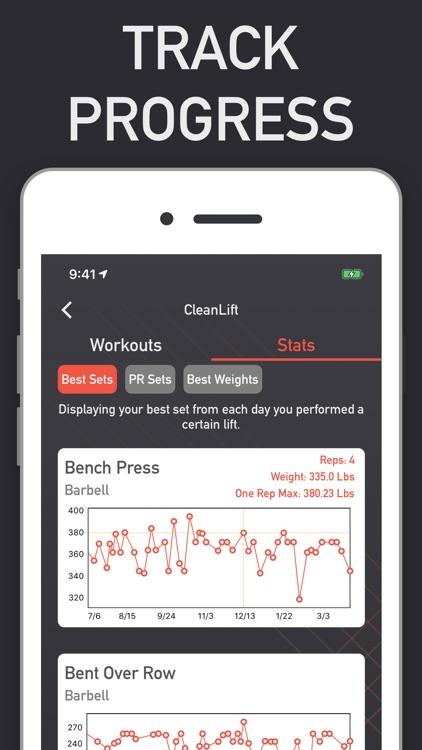 CleanLift - Weight Training screenshot-5