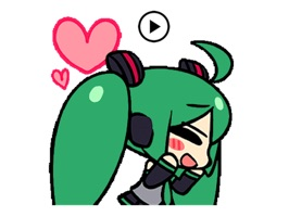 Animated Miku And Gang Sticker