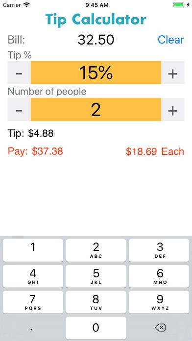 eTipCalculator Screenshots
