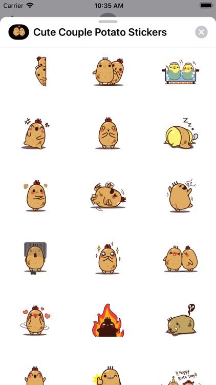 Cute Couple Potato Stickers