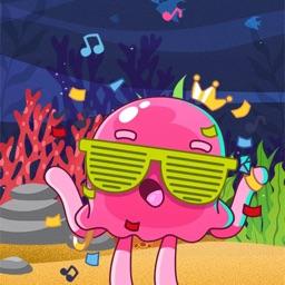 Pink octopus sticker