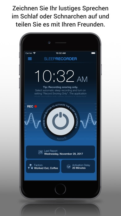 Screenshot for Prime Sleep Recorder Pro in Germany App Store