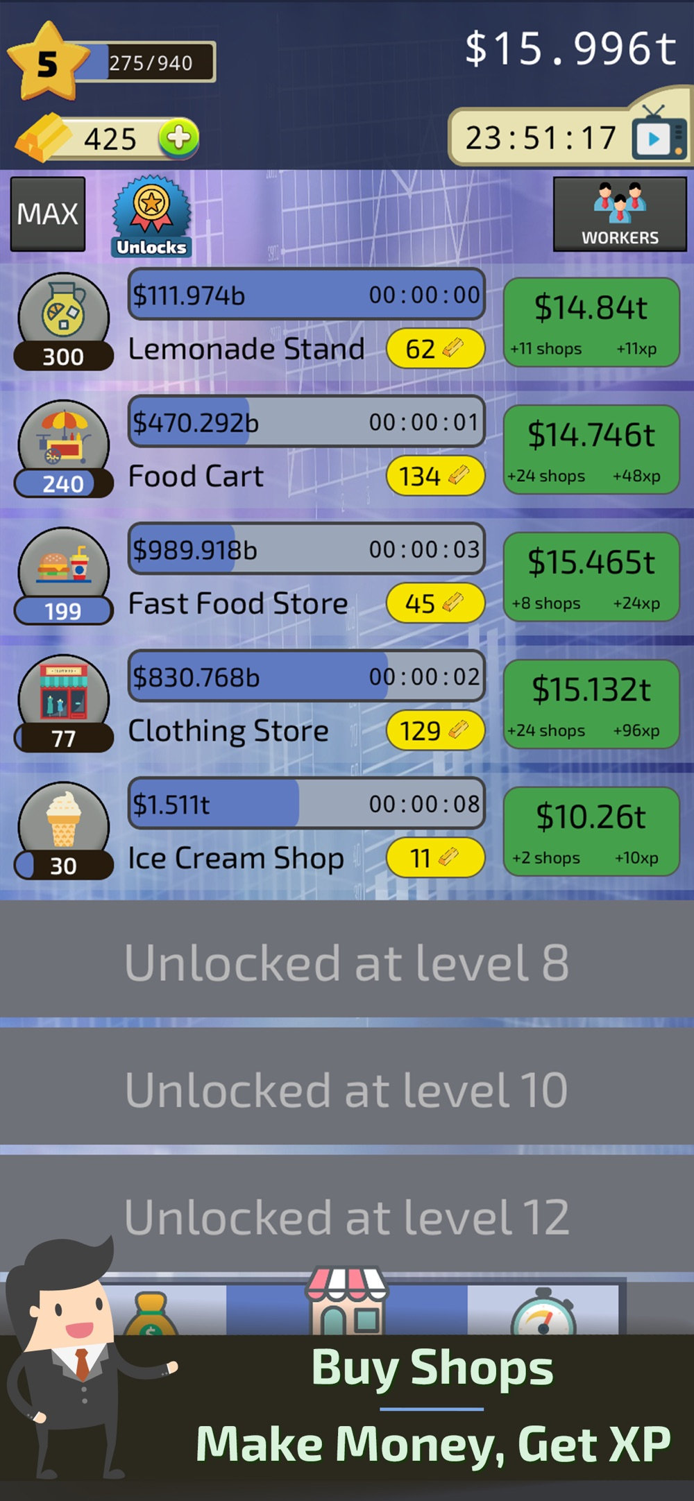 Clicker Business Tycoon Cheat Codes