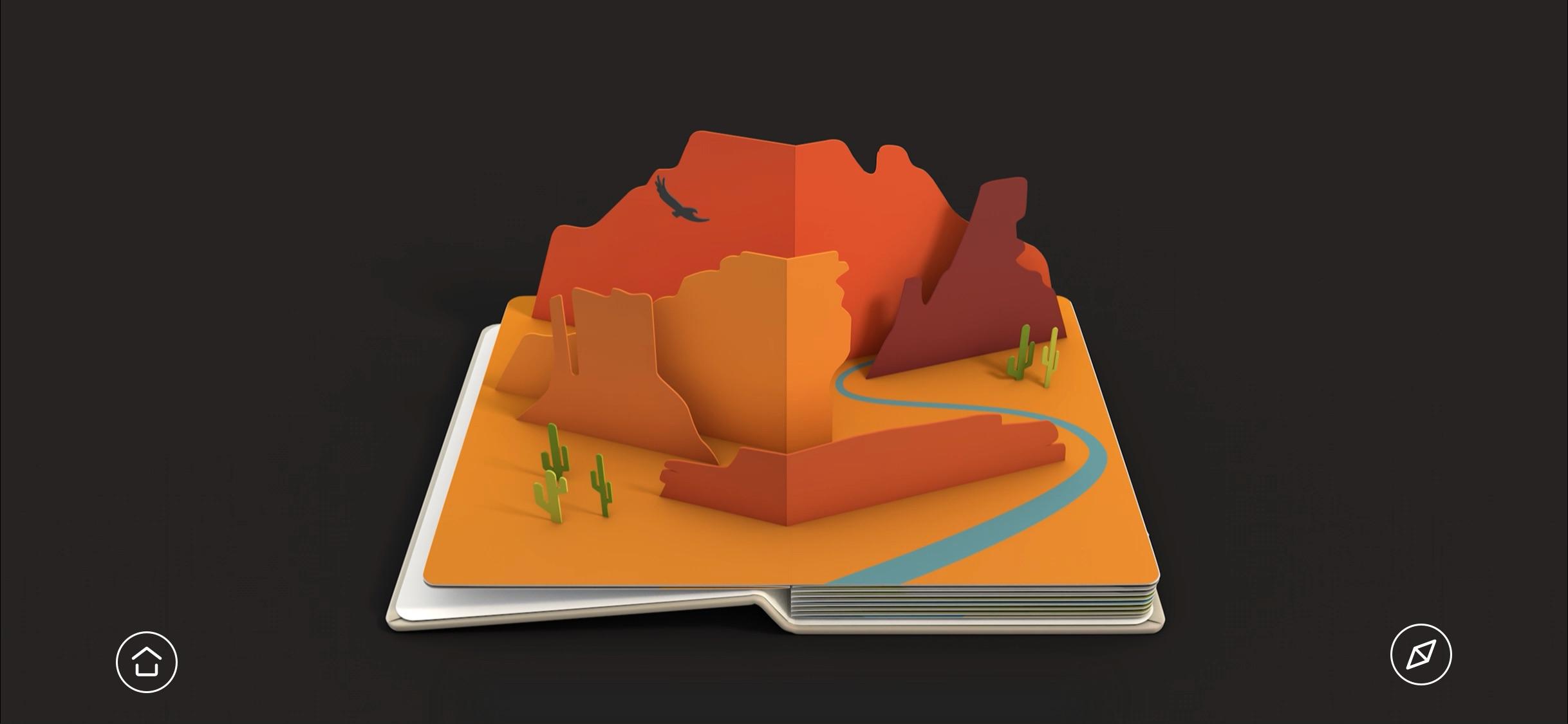 Screenshot do app AirPano Travel Book