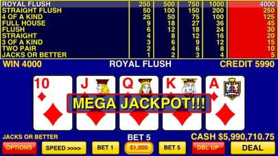 Video Poker Games free Coins hack