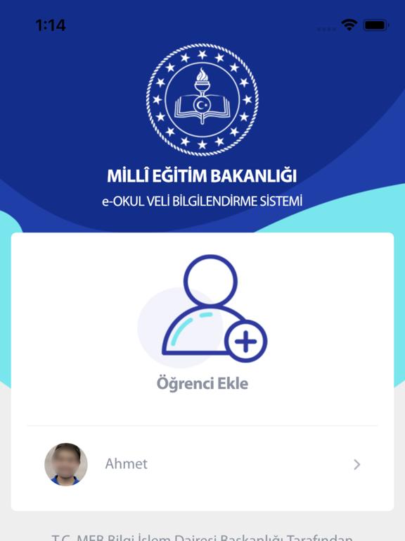 MEB E-OKUL VBS ipad ekran görüntüleri
