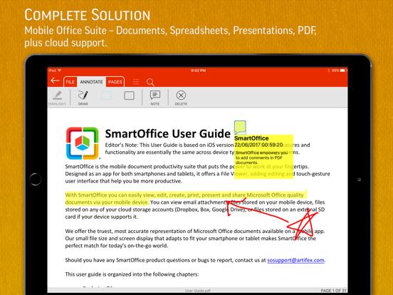 SmartOffice - Document Editing Screenshots