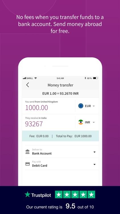 Skrill - Transfer Money screenshot-4