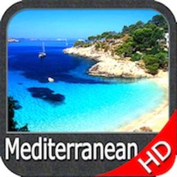 Mediterranean Sea HD GPS Chart