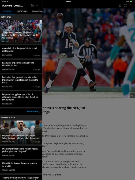 Dolphins Football - News, Photos and Stats App screenshot