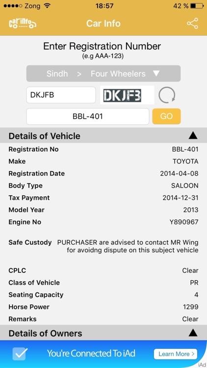 Car Registration Info screenshot-3