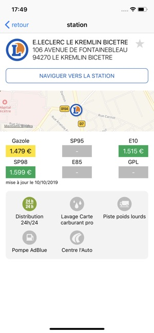 Carte Carburant Pro E Leclerc Dans L App Store