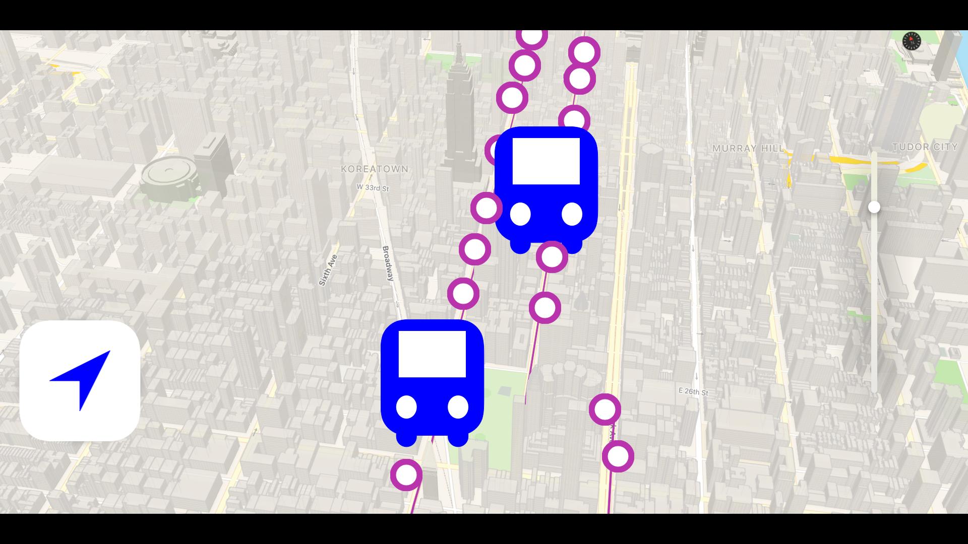Bus NYC in 3D City View Lite screenshot 14