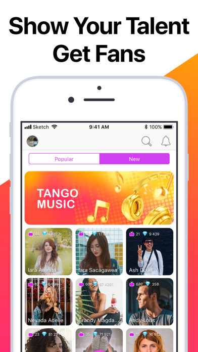 messages.download Tango - Live Video Broadcasts software