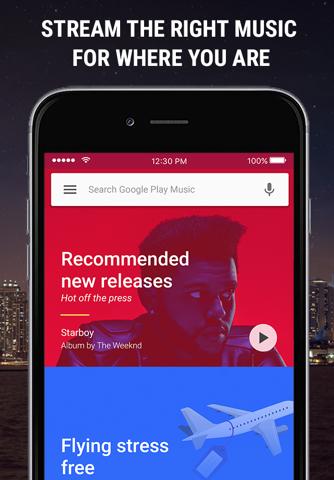 Google Play Music - náhled