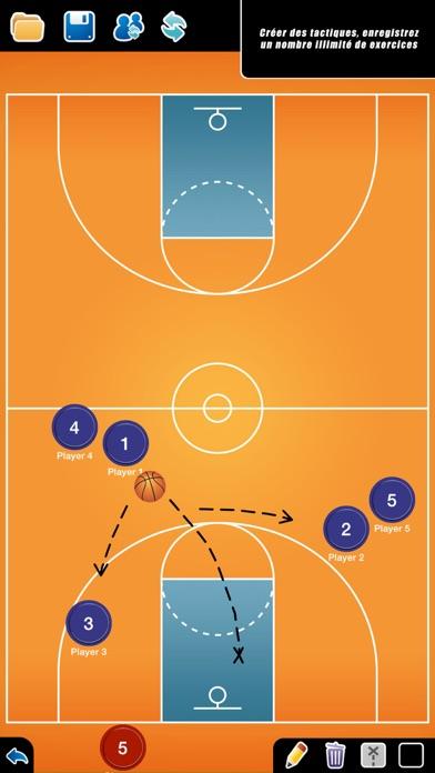 Screenshot #1 pour Planche Tactique: Basketball++