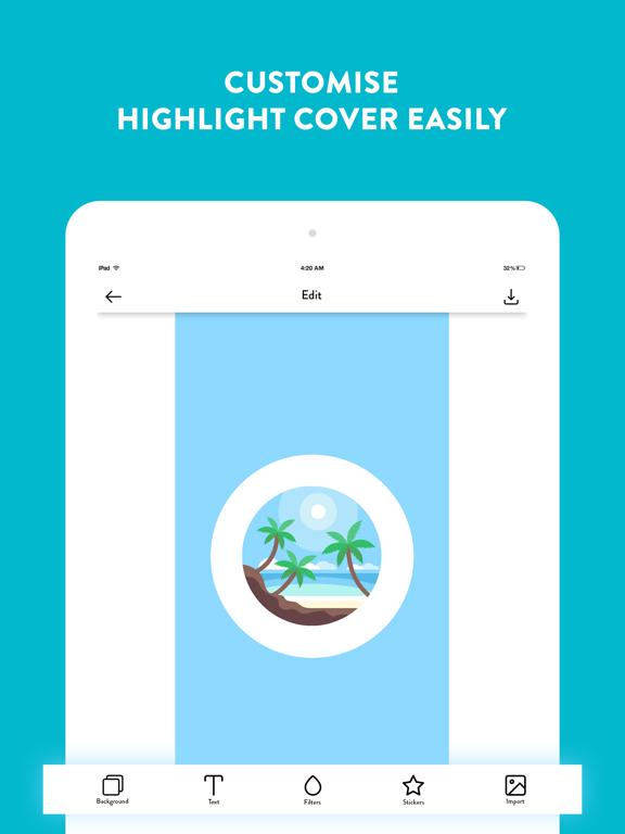 Highlight Story Cover Maker!-ipad-3