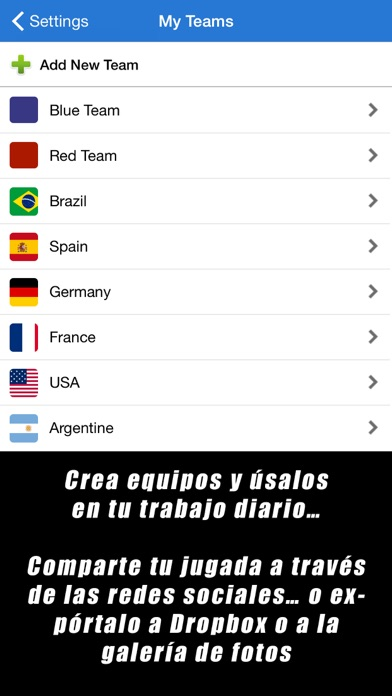 Screenshot for Pizarra Táctica: Fútbol++ in Mexico App Store