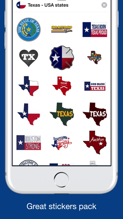 Texas emojis - USA stickers