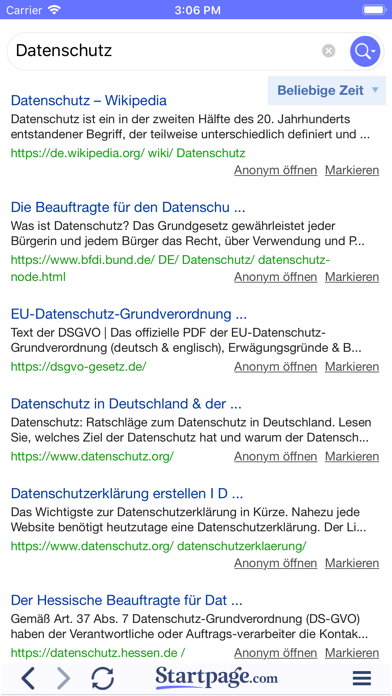 messages.download Startpage Suchmaschine software