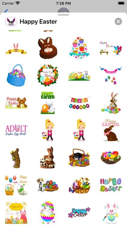 Happy Easter Emoji Stickers screenshot-7