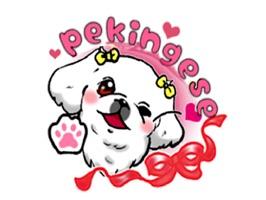 Cute Pekingese Dog Peke Emoji