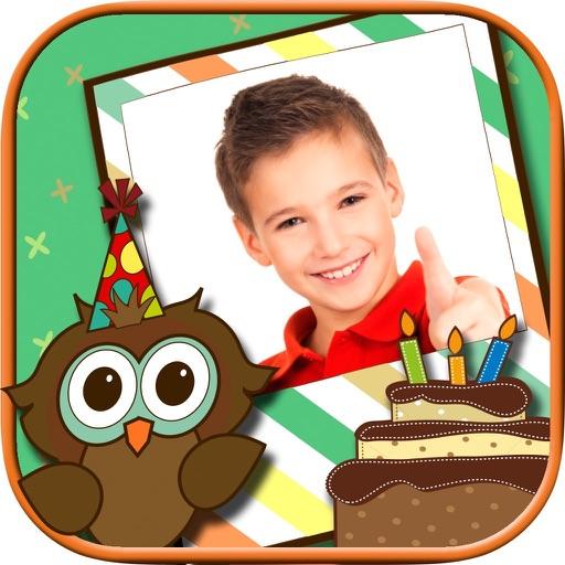 Happy birthday greeting frames