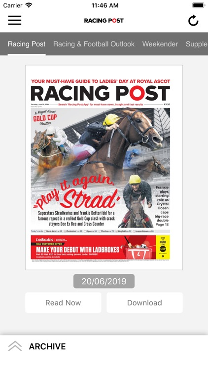Racing Post Newspaper