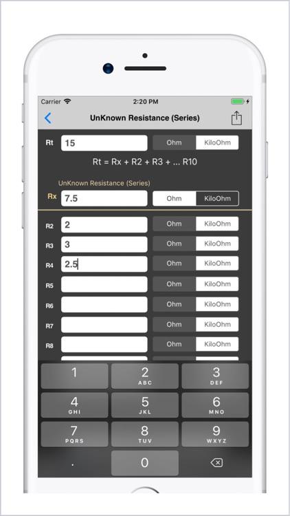 Electrical Calculator lite screenshot-6