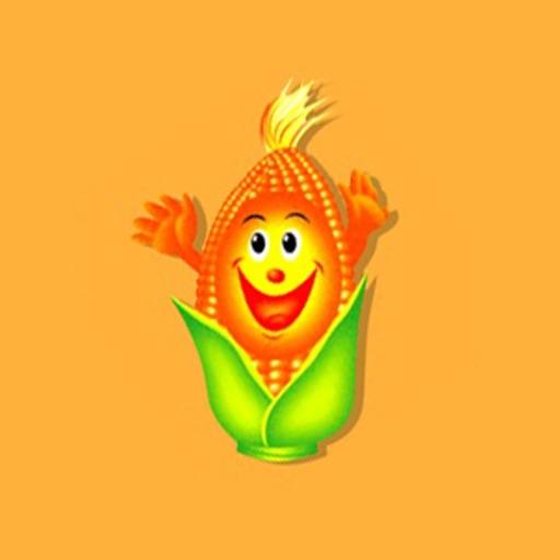 快乐的玉米Emoji-给你快乐