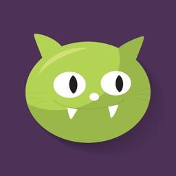 Kitty Halloween Stickers