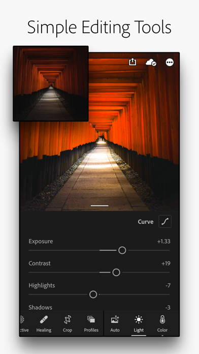 Adobe Lightroom Photo Editor Screenshot
