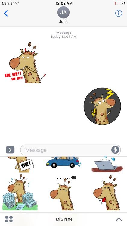 Mr Giraffe Animated Stickers