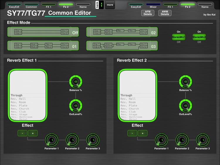 MD77: Yamaha SY77/TG77 Editor screenshot-3