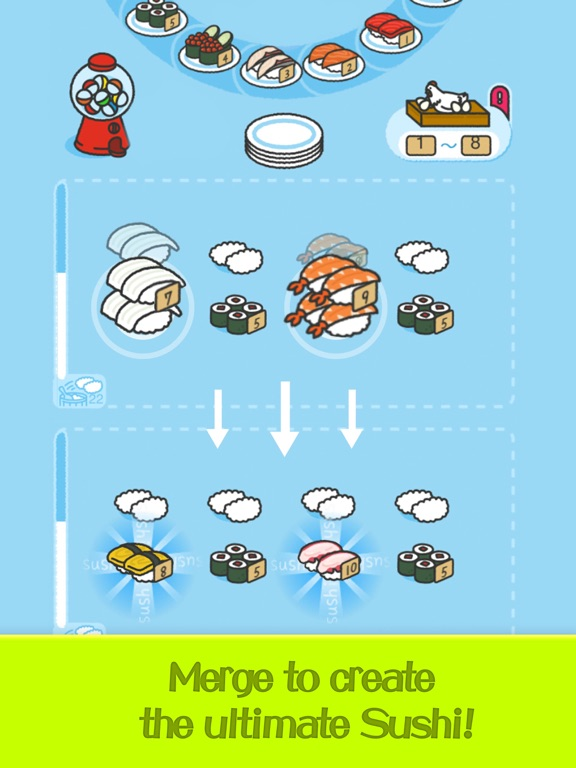Merge Sushi - Best Idle Game screenshot 9