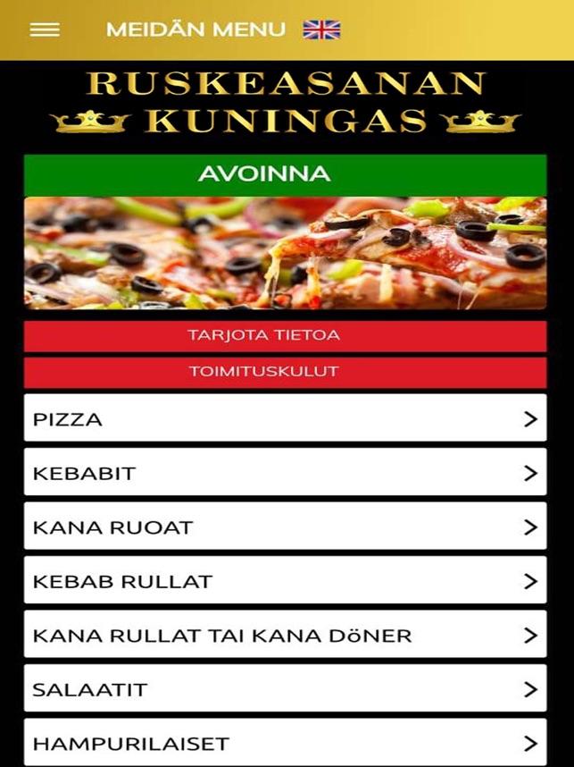 Pizzakuningas malmi