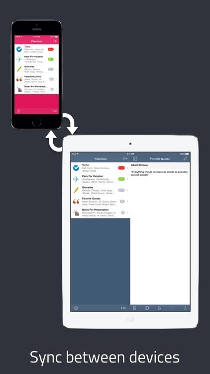 Paperless: Lists + Checklists screenshot-4
